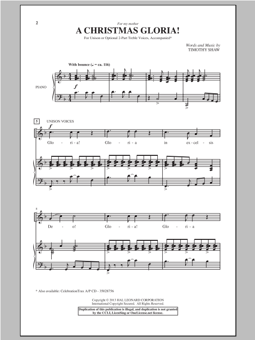 A Christmas Gloria! Sheet Music