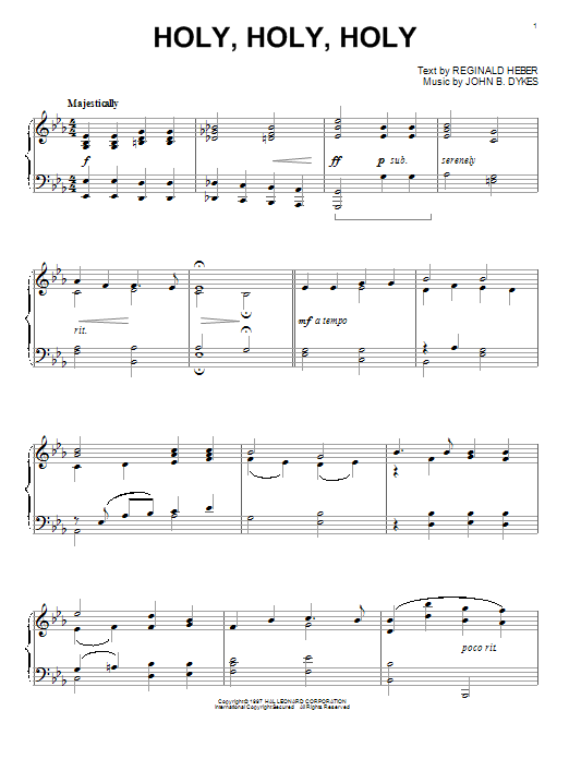 Holy, Holy, Holy Sheet Music