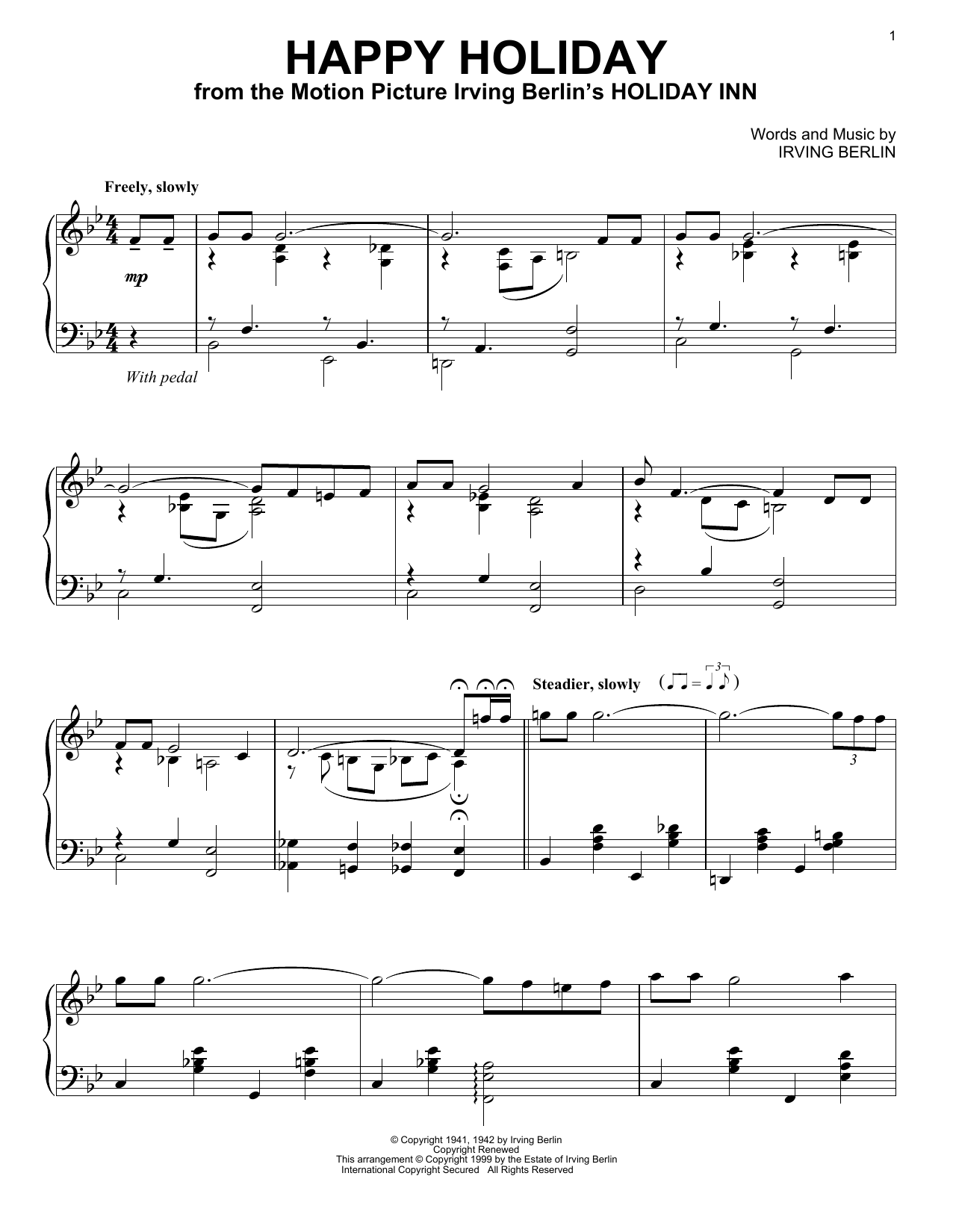 Happy Holiday Sheet Music