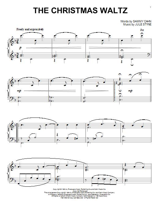 The Christmas Waltz (Piano Solo)