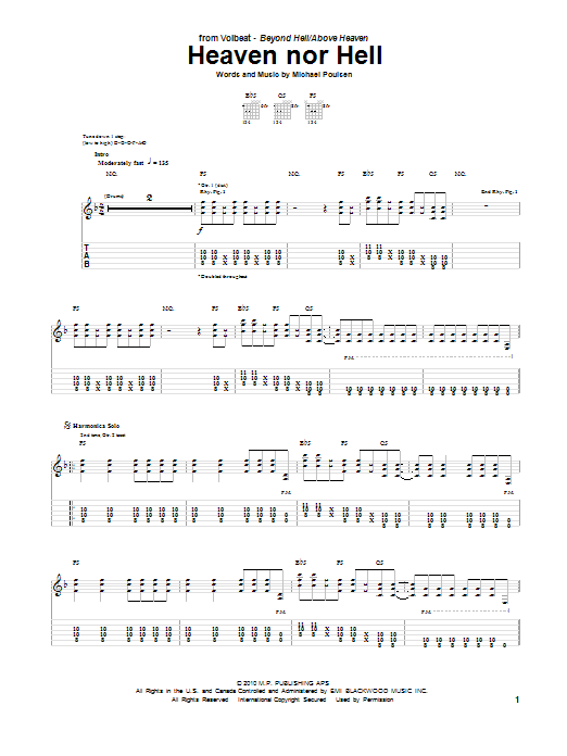 Heaven Nor Hell (Guitar Tab)