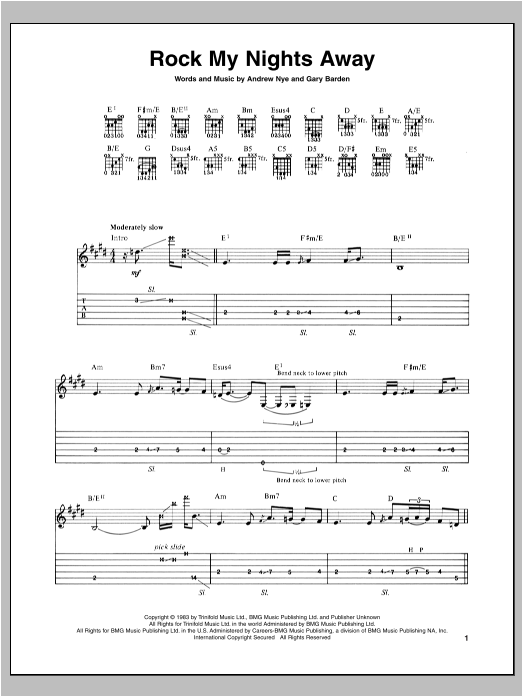 Rock My Nights Away (Guitar Tab)