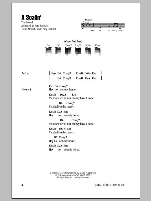A Soalin' Sheet Music