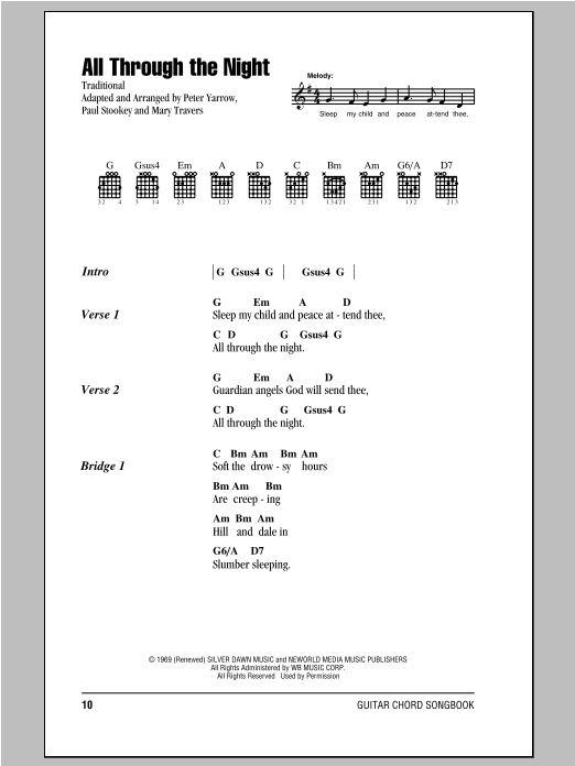 All Through The Night Sheet Music
