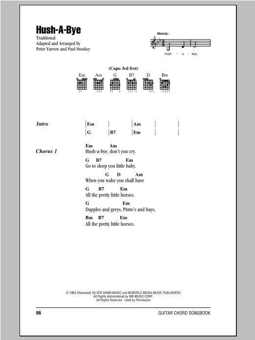 Hush-A-Bye Sheet Music