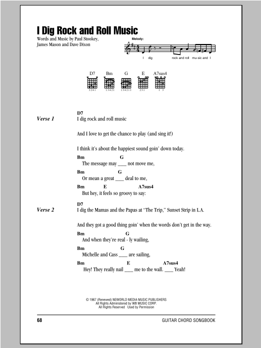 I Dig Rock And Roll Music Sheet Music
