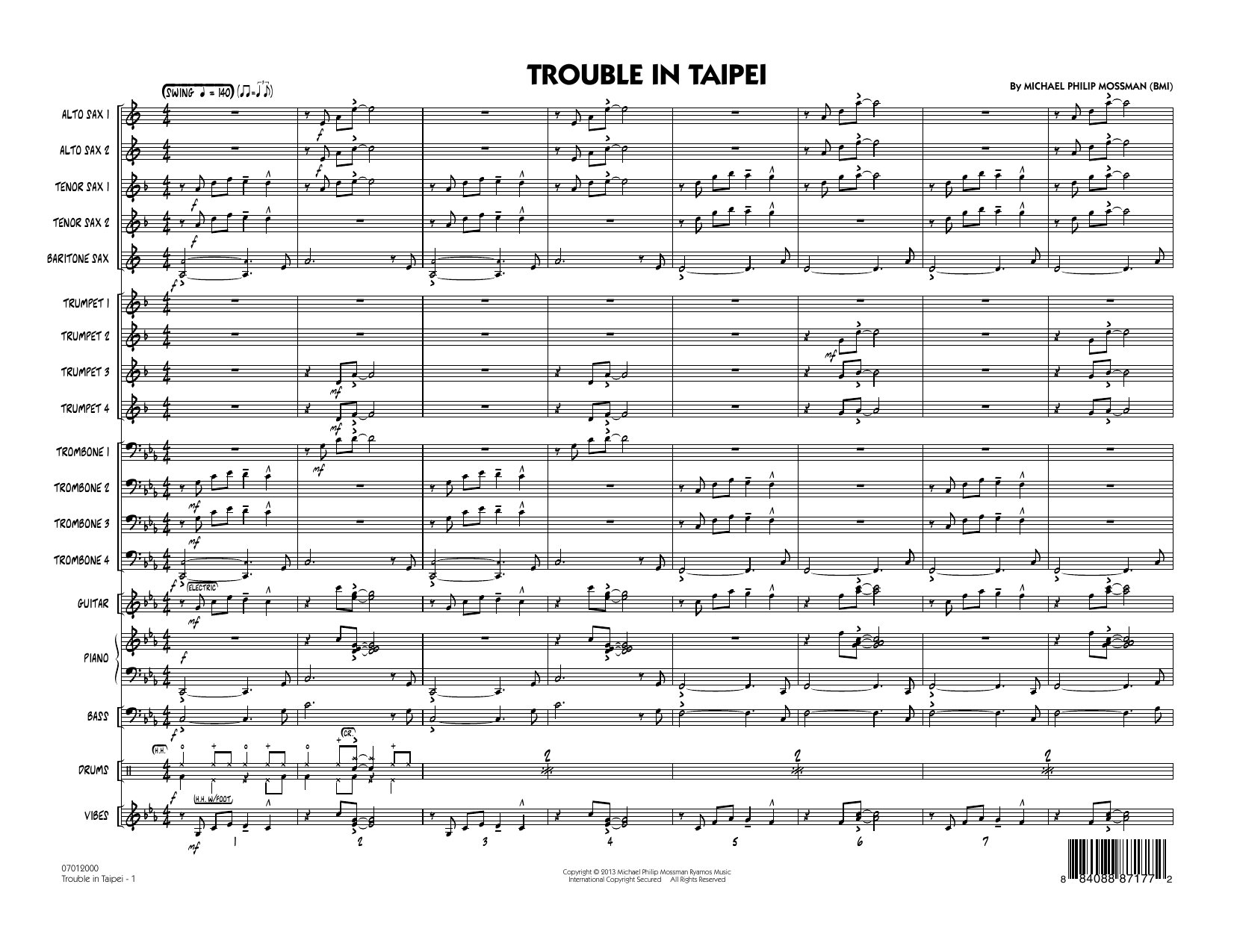 Trouble In Taipei - Conductor Score (Full Score) Sheet Music