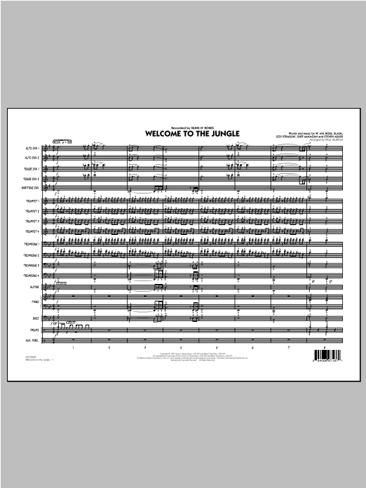 Welcome to the Jungle - Conductor Score (Full Score) Digitale Noten
