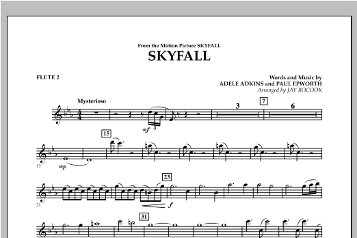 Skyfall - Flute 2 Sheet Music