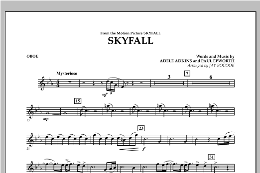 Skyfall - Oboe Sheet Music