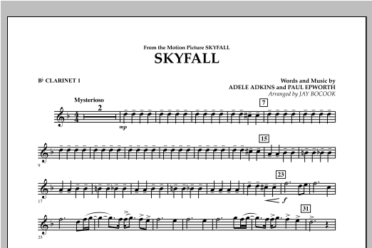 Skyfall - Bb Clarinet 1 Sheet Music