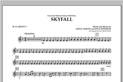 Skyfall - Bb Clarinet 2 Sheet Music