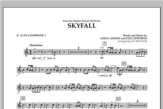 Skyfall - Eb Alto Saxophone 2 Sheet Music