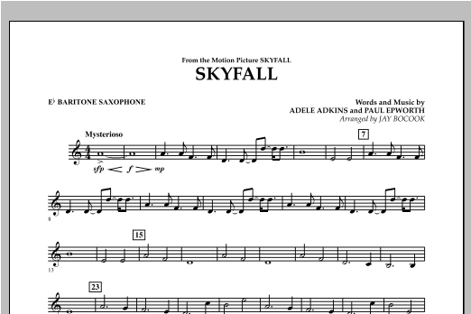 Skyfall - Eb Baritone Saxophone Sheet Music