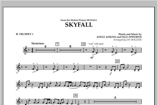 Skyfall - Bb Trumpet 1 Sheet Music