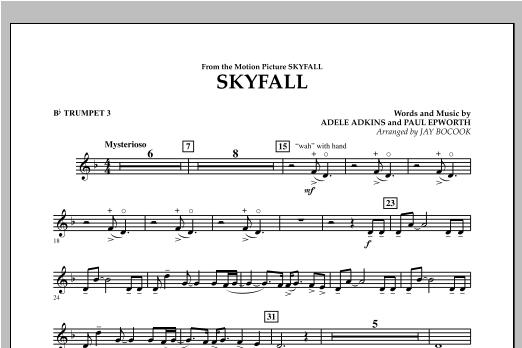 Skyfall - Bb Trumpet 3 Sheet Music