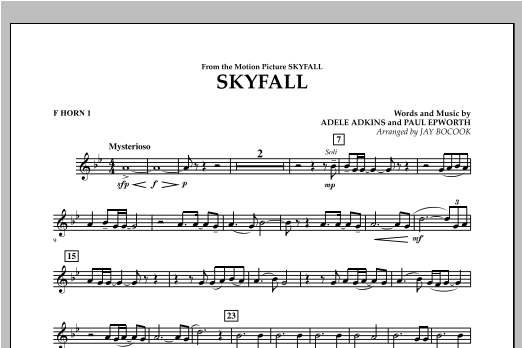 Skyfall - F Horn 1 Sheet Music