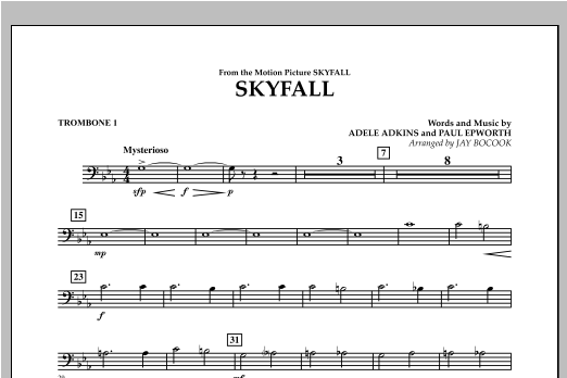 Skyfall - Trombone 1 Sheet Music