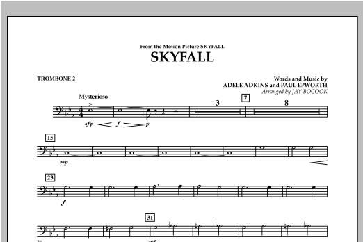 Skyfall - Trombone 2 Sheet Music