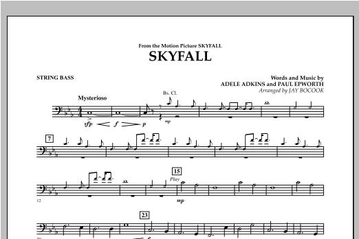 Skyfall - String Bass Sheet Music