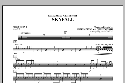 Skyfall - Percussion 1 Sheet Music