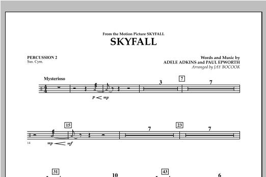 Skyfall - Percussion 2 Sheet Music
