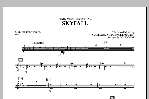 Skyfall - Mallet Percussion Sheet Music