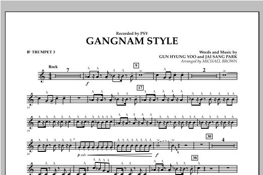 Gangnam Style - Bb Trumpet 3 Sheet Music