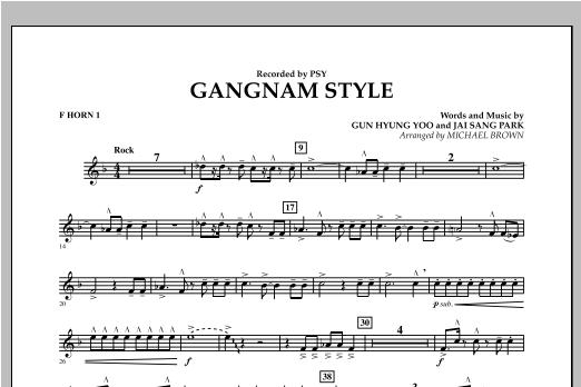 Gangnam Style - F Horn 1 Sheet Music