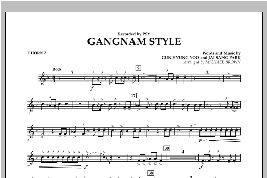 Gangnam Style - F Horn 2 (Concert Band)