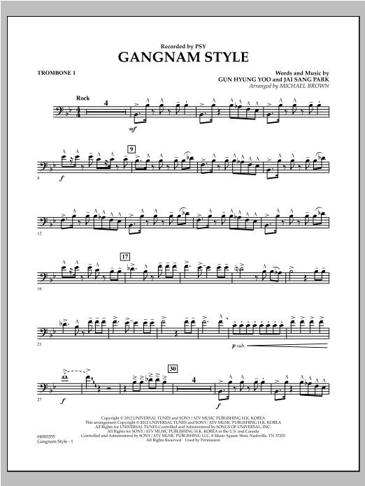 Gangnam Style - Trombone 1 Sheet Music