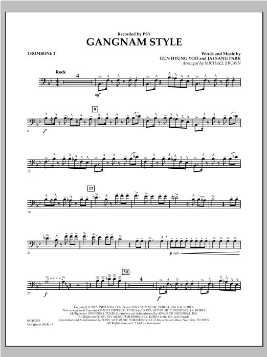 Gangnam Style - Trombone 2 (Concert Band)