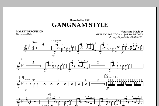 Gangnam Style - Mallet Percussion Sheet Music
