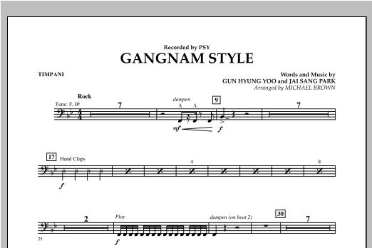 Gangnam Style - Timpani Sheet Music