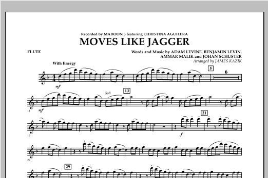 Moves Like Jagger - Flute Sheet Music