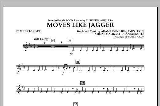 Moves Like Jagger - Eb Alto Clarinet Sheet Music