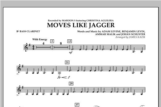 Moves Like Jagger - Bb Bass Clarinet Sheet Music