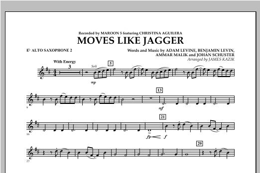 Moves Like Jagger - Eb Alto Saxophone 2 Sheet Music