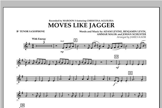 Moves Like Jagger - Bb Tenor Saxophone Sheet Music