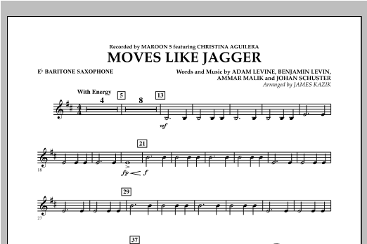 Moves Like Jagger - Eb Baritone Saxophone Sheet Music