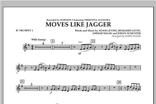 Moves Like Jagger - Bb Trumpet 1 Sheet Music