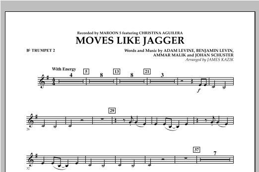 Moves Like Jagger - Bb Trumpet 2 Sheet Music