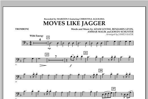 Moves Like Jagger - Trombone Digitale Noten