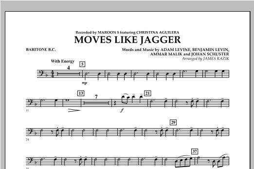 Moves Like Jagger - Baritone B.C. Sheet Music