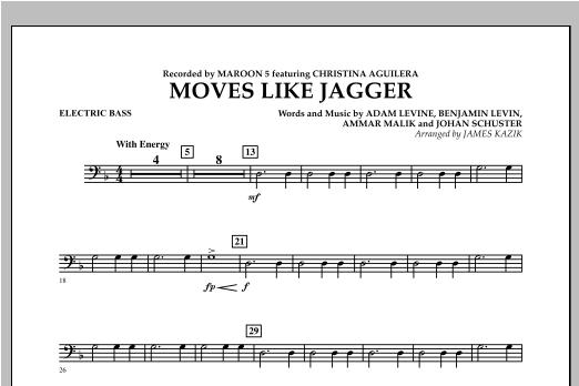 Moves Like Jagger - Bass Sheet Music