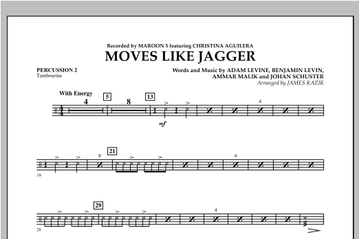 Moves Like Jagger - Percussion 2 Sheet Music