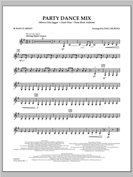 Party Dance Mix - Bb Bass Clarinet (Concert Band)