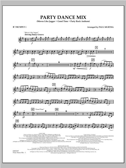 Party Dance Mix - Bb Trumpet 1 Sheet Music