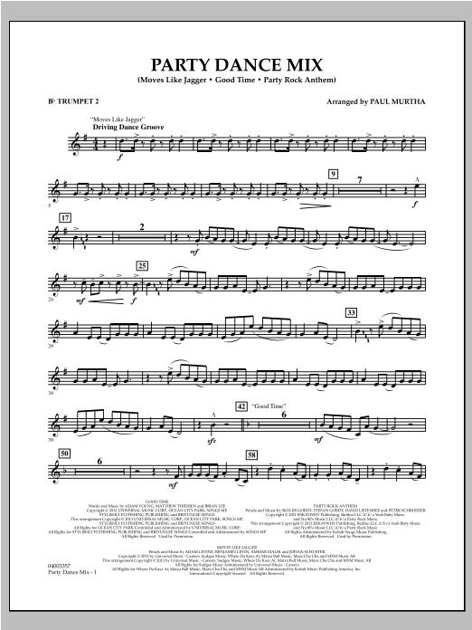 Party Dance Mix - Bb Trumpet 2 Sheet Music