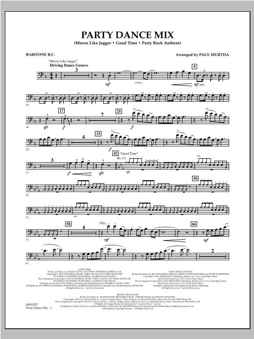 Party Dance Mix - Baritone B.C. (Concert Band)
